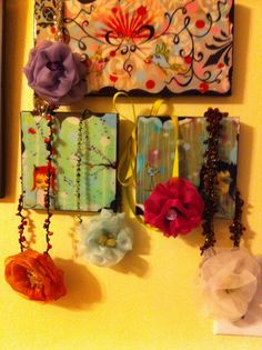 Single fabric artistic pin necklace