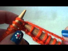 Βίντεο #02# Πλέξη ''μους'' (όλο καλή) - YouTube