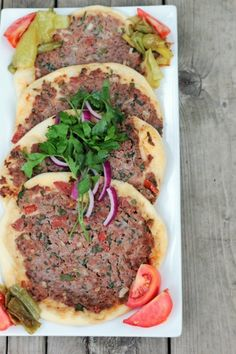 Turkish Meat Pies- Lahmacun by mom What's For Dinner