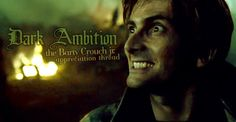 Welcome to Dark Ambition , the very first Appreciation thread of Bartemius Crouch junior and his actor David Tennant. David Tennant Harry Potter, Slytherin, Hogwarts, Barty Crouch Jr, Torchwood, Aesthetic Pictures, Ambition, Geeks, Light In The Dark