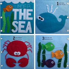 Under The Sea - Quiet Book with counting pages. Plus a whale page!