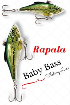 Rapala Rattlin Baby Bass Fishing Lure - Bait Cast -and- Fish Reels