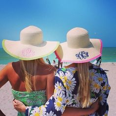 Monogrammed beach hat. Preppy Southern f94194628af
