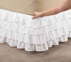Owl Bedding, Ruffle Bedding, Bedding Sets, Dust Ruffle, Ruffles, Cama Box, Ruffle Bed Skirts, White Brand, Black Ruffle