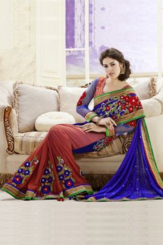 Sarees Online: Shop the latest Indian Sarees at the best price online shopping. From classic to contemporary, daily wear to party wear saree, Cbazaar has saree for every occasion. Bridal Lehenga Choli, Indian Lehenga, Lehenga Saree, Georgette Sarees, Saree Wedding, Ghagra Choli, Pakistani, Latest Designer Sarees, Latest Sarees