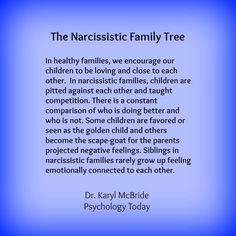 The Narcissistic Family Tree. In healthy families, we encourage our children to . - The Narcissistic Family Tree. In healthy families, we encourage our children to be loving and close - Narcissistic People, Narcissistic Behavior, Narcissistic Sociopath, Narcissistic Sister, Daughters Of Narcissistic Mothers, Narcissistic Children, Abusive Relationship, Toxic Relationships, Relationship Tips