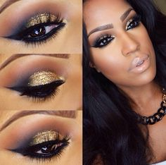 gold for brown eyes, makeup #inhci