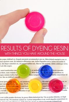 Results of Dyeing Resin with Things You Have Around the House