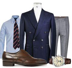 "632 gilla-markeringar, 3 kommentarer - Manolo.se (@manolosweden) på Instagram: ""Friday Inspiration - Keep it simple. The Classic menswear uniform. Navy Blazer, Grey Trousers and…"""