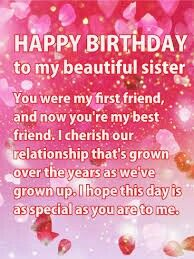 Happy birthday wishes quotes in english free download sms wishes send free shining pink happy birthday wishes card for sister to loved ones on birthday greeting cards by davia its free and you also can use your own m4hsunfo