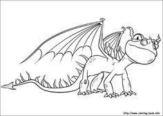 Desenhos para Colorir: Como Treinar o Seu Dragão - ImagiTerra Kids