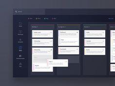 Task board design for web