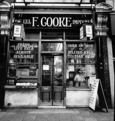 Cooke's eel and pie shop, opened in 1910 at 41 Kingsland High Street, Dalston, It has been described as the 'Buckingham Palace' of pie shops because of its lavishly decorated, elaborate interior.Museum of London Victorian London, Vintage London, Old London, Vintage Shops, Victorian Street, London Street, London Life, East End London, North London