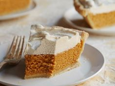Pumpkin Cream Pie : If you're determined to honor Thanksgiving tradition with a whole pie, try Sandra's shortcut pumpkin pie, which she makes in a premade pie shell. The easy whipped topping enhanced with brown sugar and pumpkin pie spice takes it over the edge.