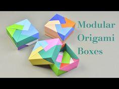 3 Easy Modular Origami Boxes Tutorial   Creative DIY - YouTube