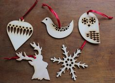 Chris Webb trading as Lazy Crafternoons on Folksy....laser cut Xmas decs for the tree