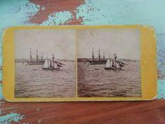 Antique stereo photo/stereoview H. Royal Albert three-decker ship G. American War, World's Fair, Royal Albert, Native American Indians, Photo Cards, Vintage Photos, Nativity, Ship, Antiques