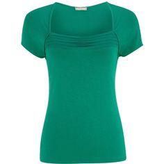 Planet Emerald green jersey top