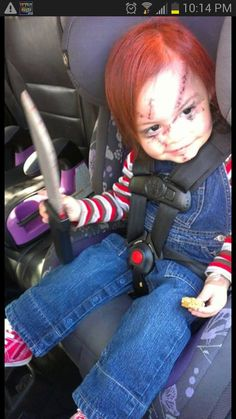 Chucky Toddler Costume Idea #Halloween.  Disturbing and hilarious at the same time!
