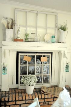 Prop a window in front of fireplace (Stained glass?)