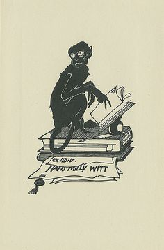 ≡ Bookplate Estate ≡ vintage ex libris labels︱artful book plates - Pratt Libraries Ex Libris Collection