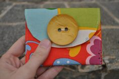 Card holder... make it out of denim and fat quarter.
