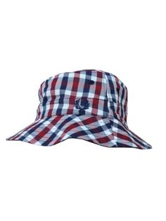 Fred Perry Reversible Gingham Hat in Black - Northern Threads