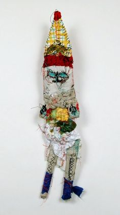 MICHEL NEDJAR (1947) | His first doll fetishes were made using fabrics, rags and plastic bags which he adorned with feathers, bits of wood, straw, string and shells dipped in baths of dye, earth and blood. Collection de l'Art Brut, Lausanne, Switzerland