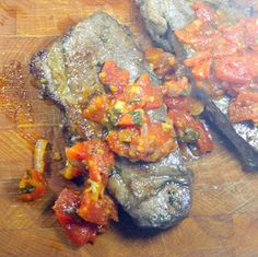 Inspired By eRecipeCards: Marinated Steak with Pizzaiola Sauce (Bistecca marinata alla pizzaiola)