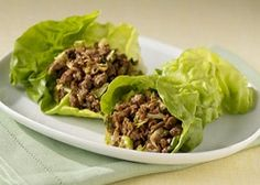 Low Carb Spicy Asian Wraps    Ingredients:    Extra Lean Ground Beef 96/4, 16 oz  Ground Turkey 85/15, 16 oz  HOT Chili Sauce(1t), 4 serving  Kikkoman Lite Soy Sauce, 6 tbsp  Romaine Lettuce (salad), 1 inner leaf