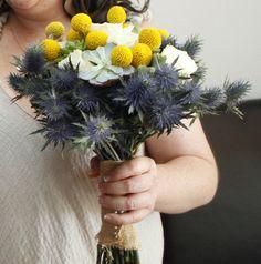 TUNDRA - Maria. Bouquets. ramo de novia. wedding. crasa. suculent. suculenta. craspedia. eryginum. rosa. roses.