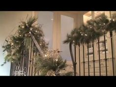 Christmas Decorations and Decorating the Staircase and Banister #2