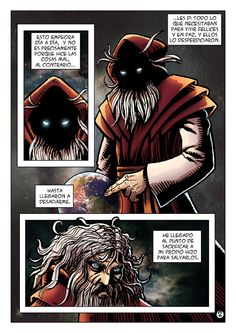 "Pagina 2 del Comic ""Dios"""