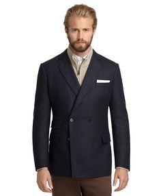 Brooks Brothers Regent Fit Doublebreasted Flannel Sport Coat in Blue for Men (Navy) | Lyst