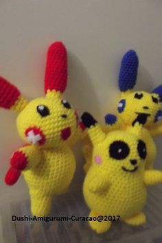 Nederlands haakpatroon Pokemon Pulsle en Minun - Tallsay.com