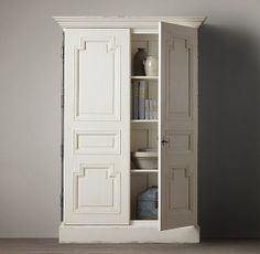 """RH Montpellier Armoire Small: 53""""W x 20""""D x 77""""H"""