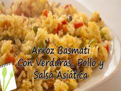 Arroz Basmati con Verduras, pollo y salsa asiática - Muchas Recetas de C...