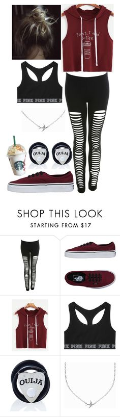 """""""Morning run for coffee"""" by mariposas39 ❤ liked on Polyvore featuring Miss Selfridge, Vans, Victoria's Secret, Mysticum Luna and Minnie Grace"""