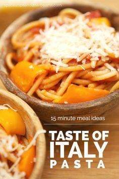 15 Minute Meal Idea: Taste of Italy Pasta Recipe (AD)