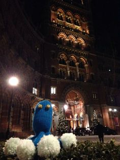 Penicillin going for dinner at St Pancras Renaissance   #microbes  http://www.glasgowcityofscience.com/get-involved/knitting-microbes