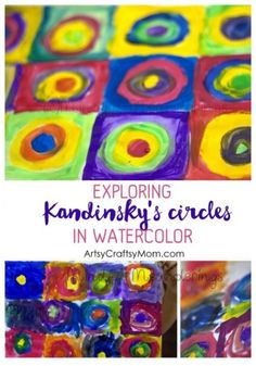 Monet was the father of Impressionist painting. Check out our Art appreciation series - 10 Claude Monet Art Projects for Kids - impressionism, lily pond etc Kid Friendly Art, Paul Klee Art, Circle Art, Great Artists, Famous Artists, Art Activities, Playgroup Activities, Teaching Art, Preschool Learning
