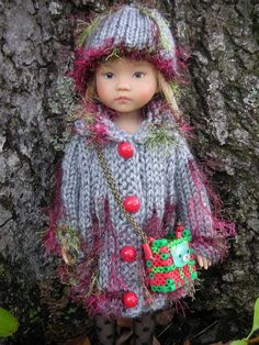 "Dianna Effner little darling hand made sweater outfit for 13"" doll"