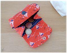 Tuto couture : porte-monnaie en tissu / Sewing tutorial : fabric purse
