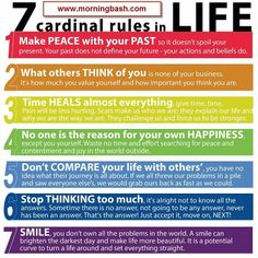 7 Cardinal rules in Life.