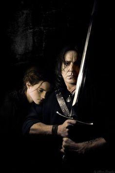 Severus Snape, Snape And Hermione, Hermonie Granger, Alan Rickman, Half Blood, Akira, Popular Memes, True Love, Hogwarts