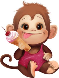 """Photo from album """"Обезьянки"""" on Yandex. Cartoon Monkey, Monkey Art, Cute Monkey, Cute Cartoon, Animals And Pets, Baby Animals, Cute Animals, Clip Art Pictures, Cute Pictures"""