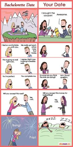 HAHAHA!!!  -  How Date Night With Your Hubby Stacks Up Against Bachelorette Date Night | More LOLs & Funny Stuff for Moms | NickMom