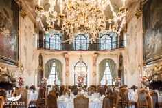 Hochzeitsfeier Schloss Leopoldskron in Salzburg Salzburg, Kirchen, Fair Grounds, Wedding Ideas, City, Travel, Pictures, Floral Headdress, Celebration