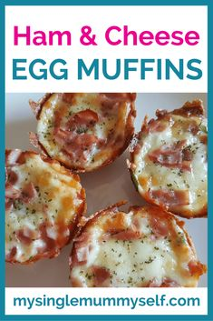 Muffin Tray Recipes - ham and cheese egg muffins