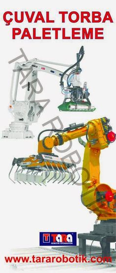 Çuval torba paletleme robotu otomasyonu.